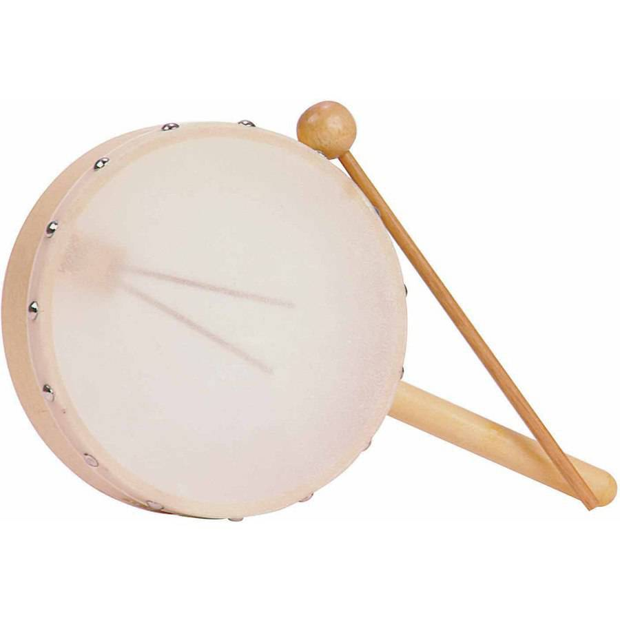 "Rhythm Band Hand Snare Drum with Wooden Mallet, 7"" Diameter by Rhythm Band Instruments LLC"
