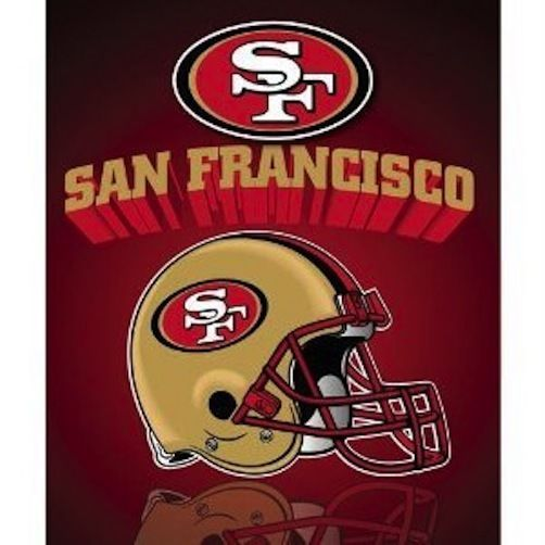 Northwest San Francisco 49ers Gridiron Fleece Throw