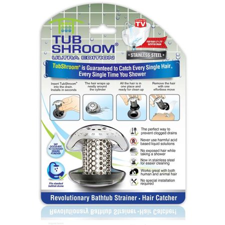 TubShroom Ultra Revolutionary Bath Tub Drain Protector - As Seen on TV