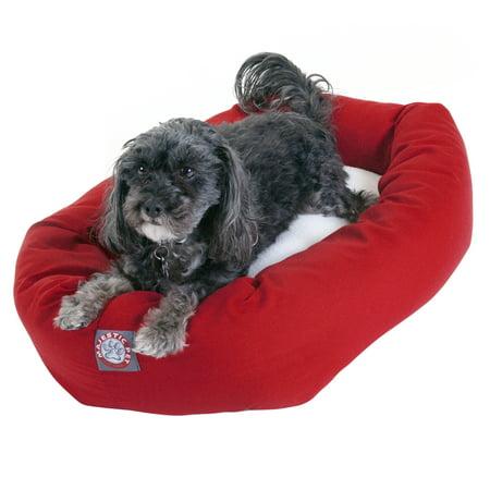 Majestic Pet® Sherpa Bagel Dog Bed - Red - 24u0022