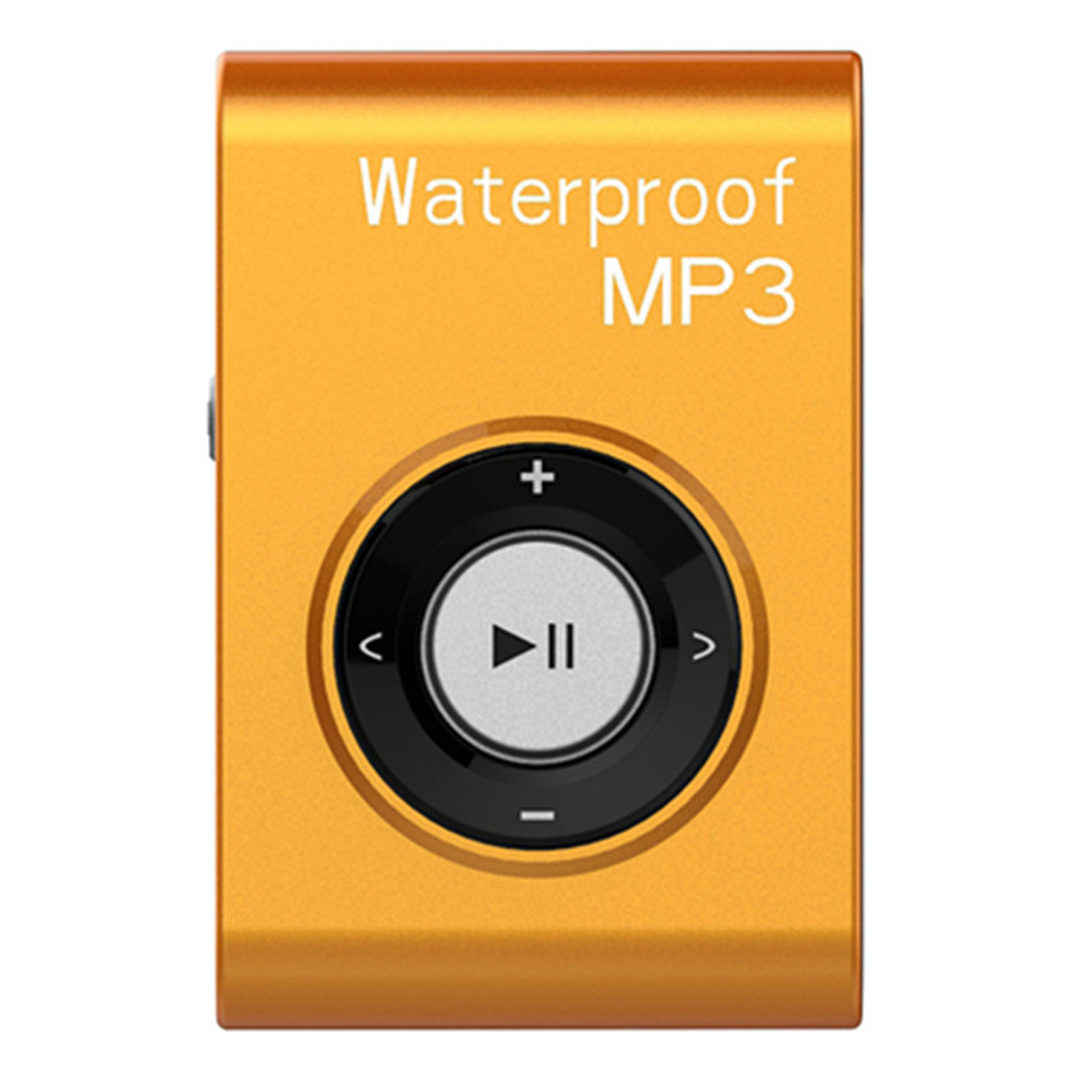 Sports Waterproof Clip-on Lossless Music MP3 Player with Earphones- Orange (4GB)