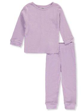 Jordache Baby Girls' Waffle 2-Piece Thermal Long Underwear Set
