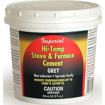 Imperial Kk0284 A High Temperature Stove And Furnace Cement  946 Ml  Tub  Gray  Paste