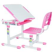 VIVO Height Adjustable Childrens Desk & Chair Kids Interactive Work Station Pink (DESK-V201P)