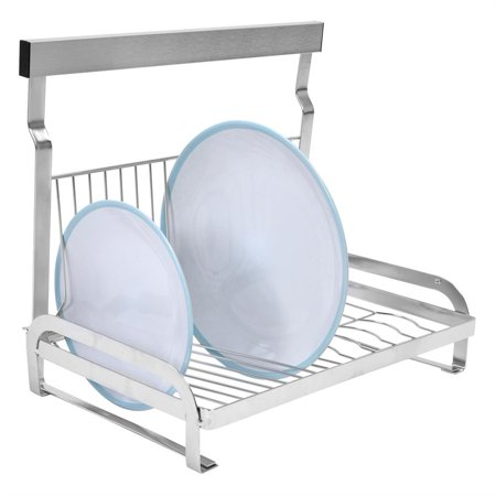 WALFRONT Stainless Steel Wall Mount Dishes & Bowls Rack Solid Support Bowl Drainer No Falling, Wall Dish Drainer, Bowl Holder Rack (Bowl Support)