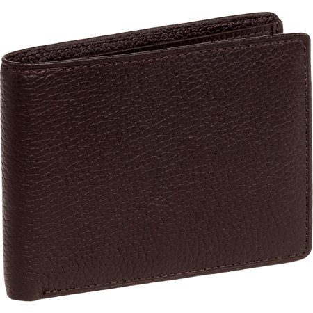 078a23ac68a8 Ross Michaels - NEW Mens Genuine Leather Logo Embossed Bifold Wallet -  Walmart.com