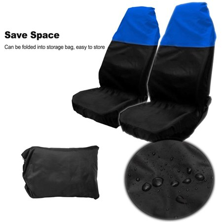 Universal Pair Seat Covers Heavy Duty Front Seat Waterproof Car Van Protectors 3 Colors Optional - image 4 de 7