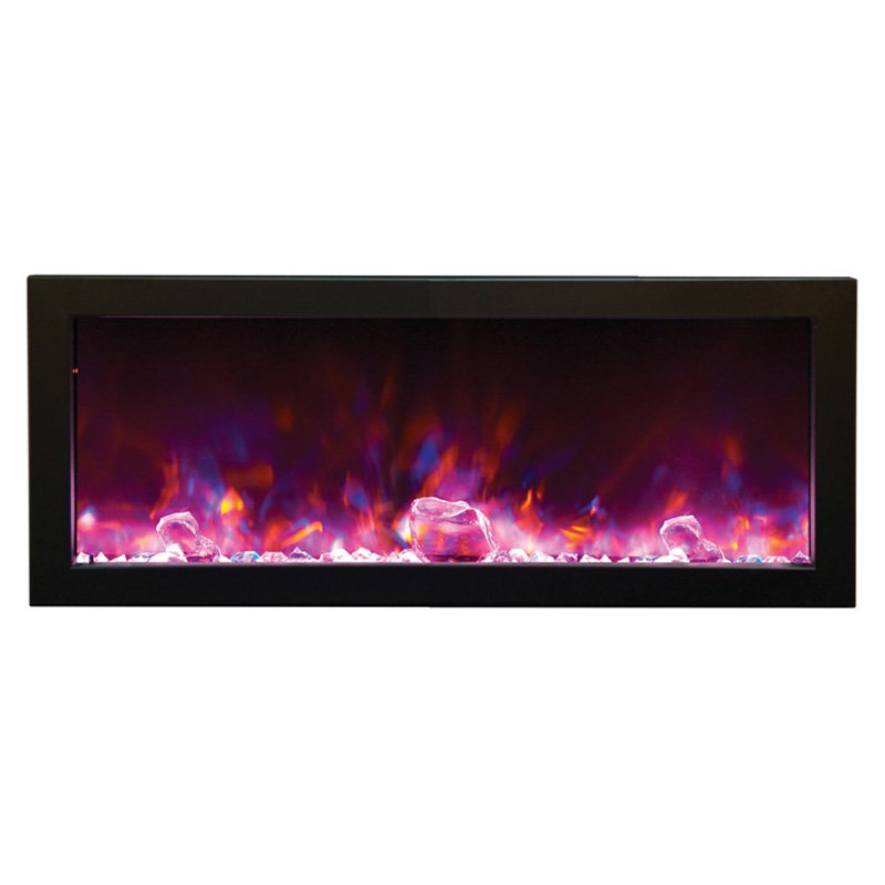 Amantii Panorama Deep Electric Wall Mount Outdoor Fireplace by New Energy Distributing Inc