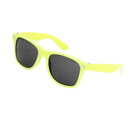Lady Gray Lens Folding Arms Plastic Yellow Full Frame (Folding Sunglasses Online Shopping)