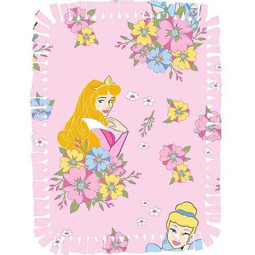 Creative Cuts Microfiber No Sew Throw Kit, Disney Princess, Pink