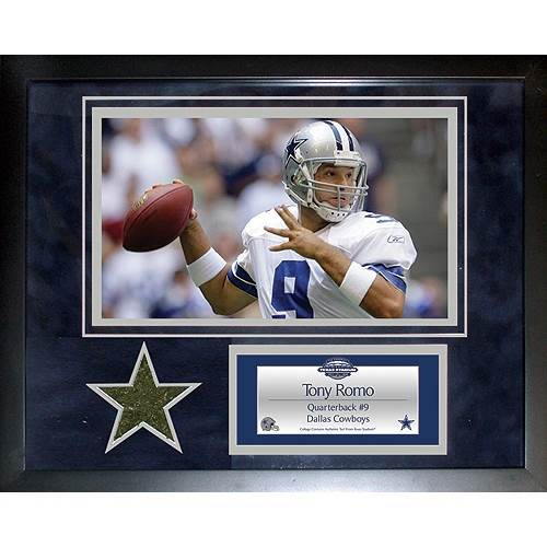 Tony Romo Dallas Cowboys 11 x 14 Mini Turf Collage