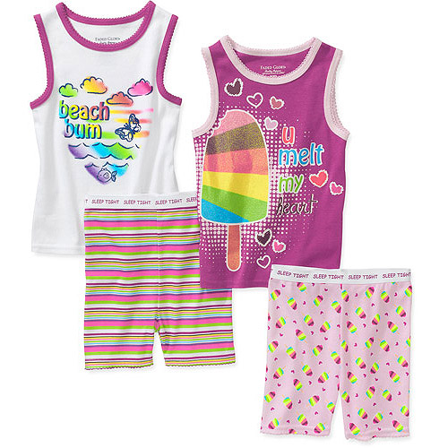 Faded Glory Baby Girls' 4 Piece Tank And