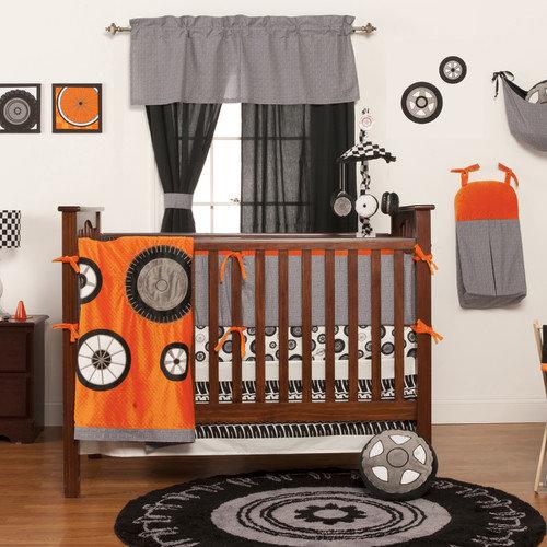 One Grace Place Teyo's Tires 3 Piece Crib Bedding Set