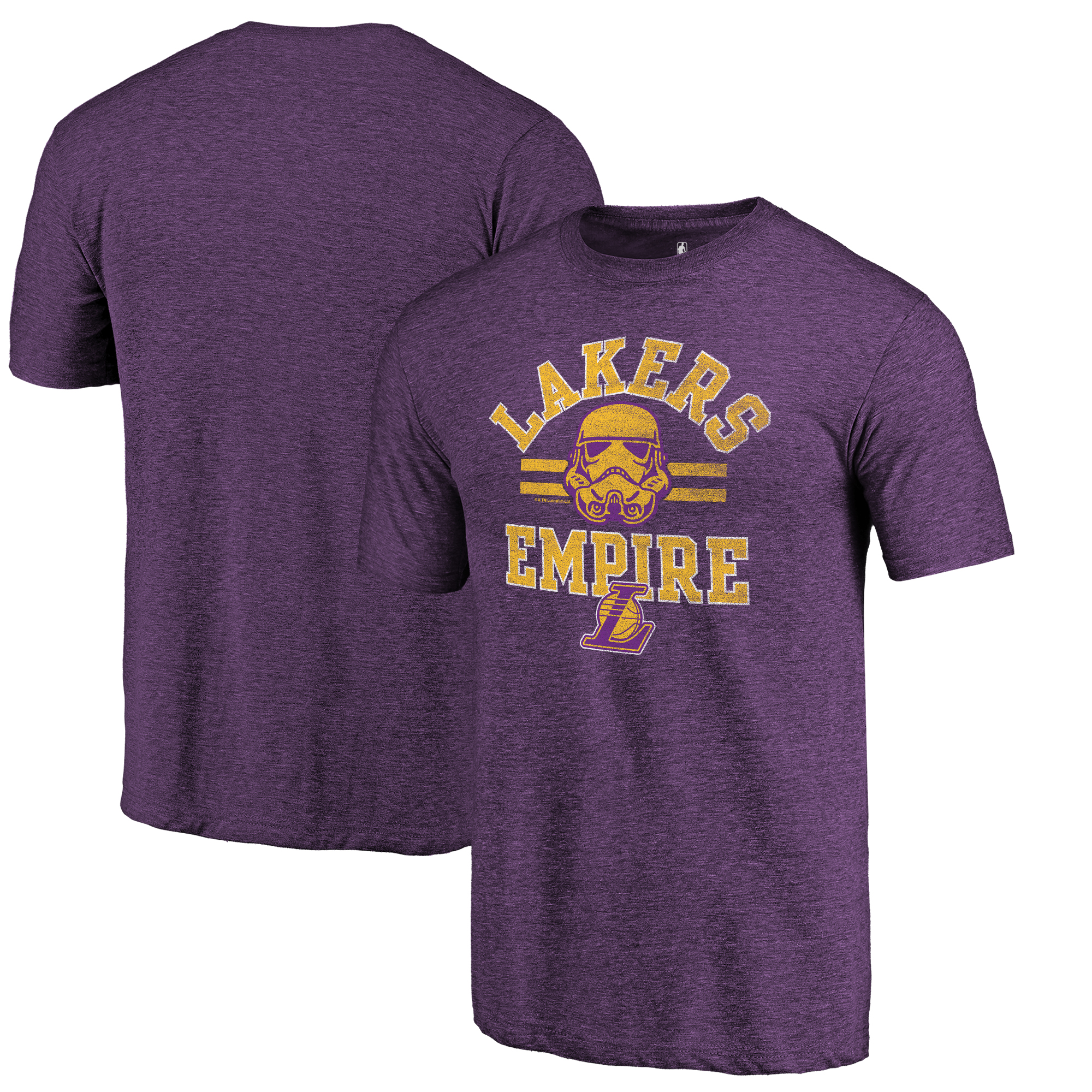 Los Angeles Lakers Fanatics Branded Star Wars Empire Tri-Blend T-Shirt - Purple