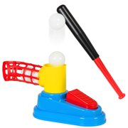 Best Choice Products Kids Pop Up And Play Toy Baseball Set Batting Trainer w  3 Balls, Bat, Ball Loader by