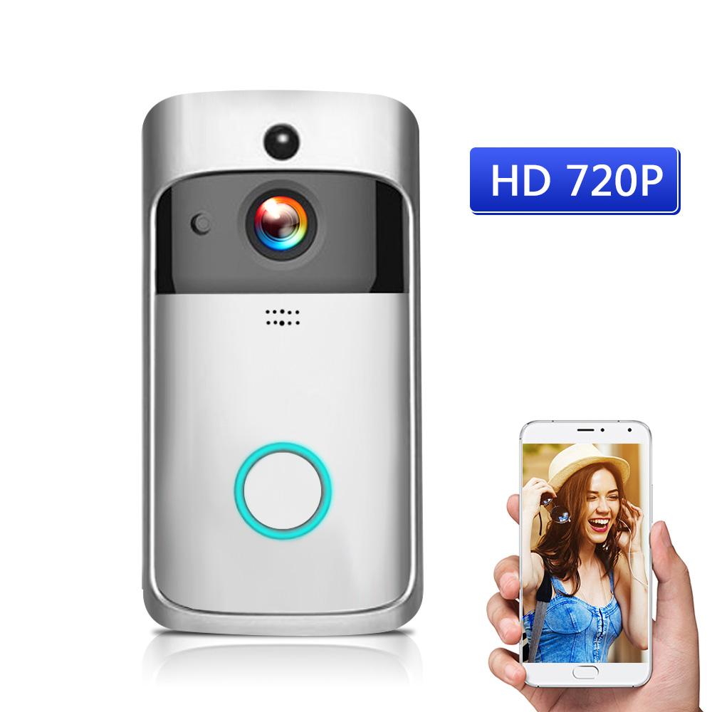 WiFi Smart Wireless Security DoorBell Smart HD 720P Visual Intercom Recording Video Door Phone Remote Home Monitoring Night Vision