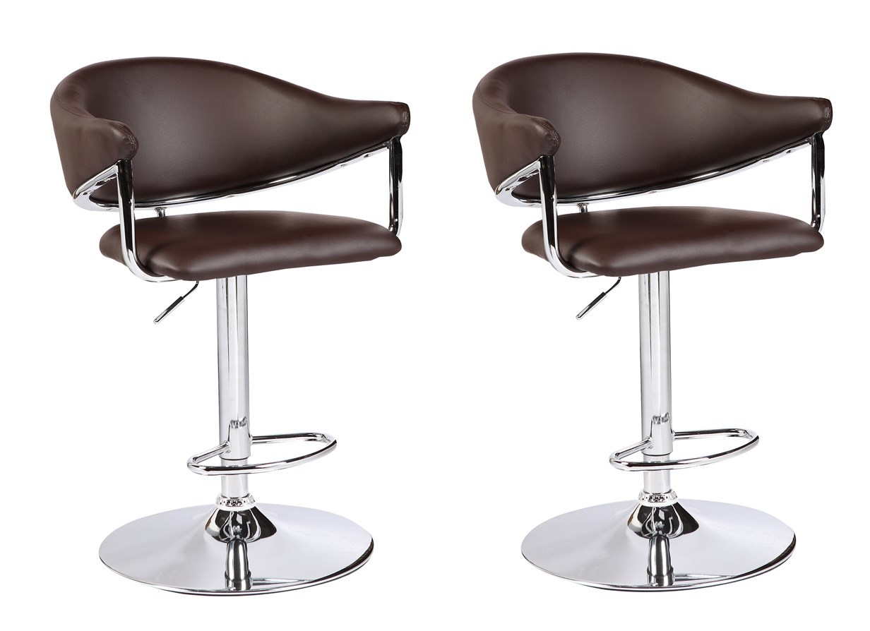 Viscologic Series Airstream Height Adjule Swivel 24 To 33 Inch Bar Stool Set Of 2 Stools