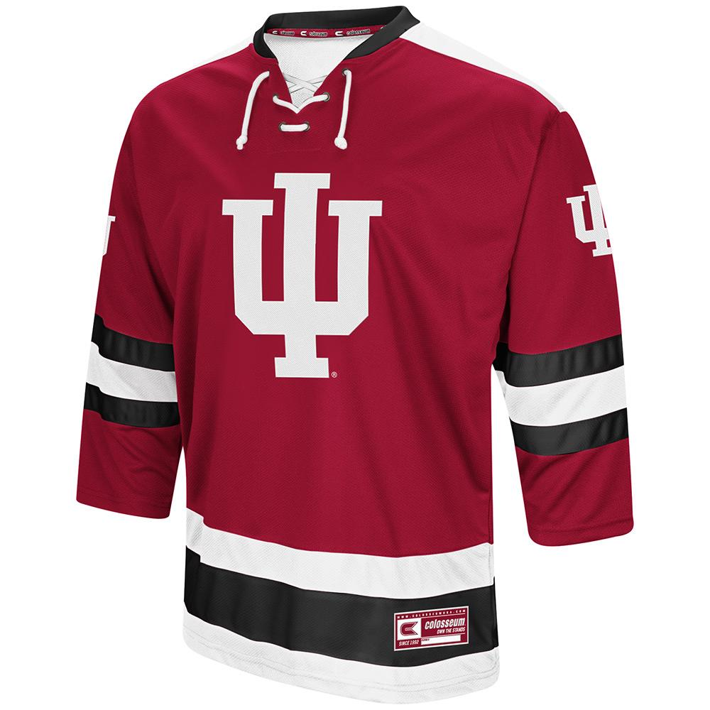 Mens Indiana Hoosiers Hockey Sweater Jersey - S