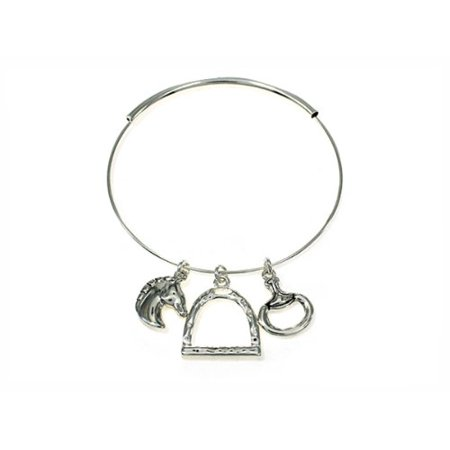 Western Equine Expandable Bangle Cowgirl Bracelet Cow Girl