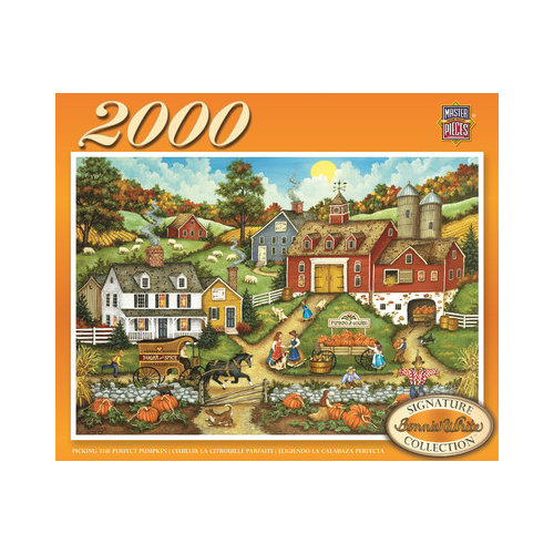 MasterPieces Bonnie White Picking the Perfect Pumpkin 2000 Piece Jigsaw Puzzle
