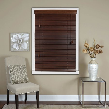 2 Inch Blinds Walmart.D E Marketing Chestnut 2 Inch Real Wood Horizontal Venetian Blinds
