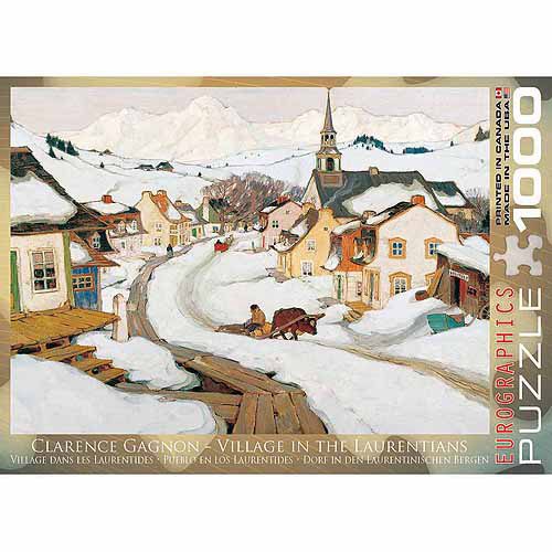 EuroGraphics Village Laurentides by Clarence Gagnon 1000-Piece Puzzle