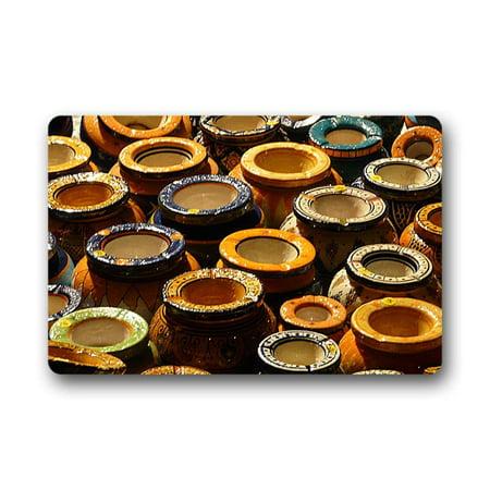 CADecor Pottery Doormat Indoor Outdoor Floor Rug 30x18 inches ()