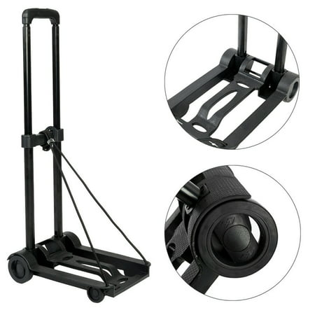 Portable Mini Folding Luggage Hand Cart Compact Lightweight Travel Trolley Multi Use Moving