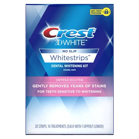 Crest 3D White Whitestrips Gentle Routine Teeth Whitening Kit, 14