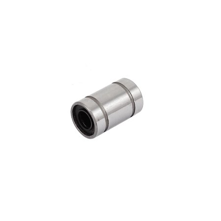 Carbon Seal - LM6UU Silver Tone Carbon Steel Sealed Rubber Cylinder Shaped Linear Ball Bearing