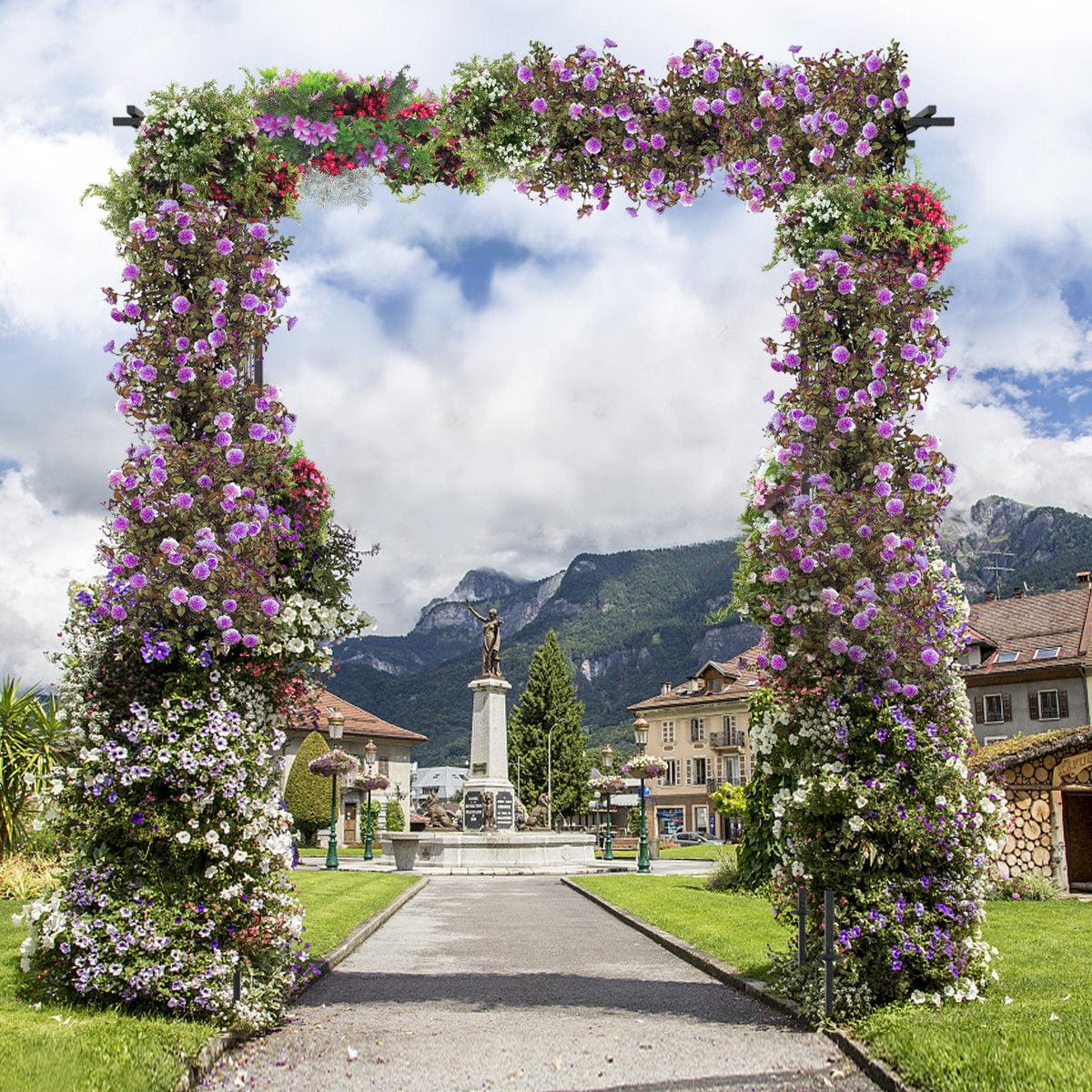 Wedding Arbor Flowers: Costway Garden Wedding Rose Arch Pergola Archway Flowers