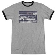 Rocky American Will Mens Adult Heather Ringer Shirt
