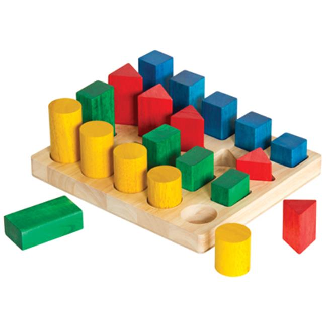Guidecraft G2004 Colored Geo Forms Educational Toy