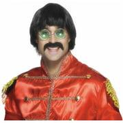 70's Mersey Wig & Tash Adult Costume Accessory