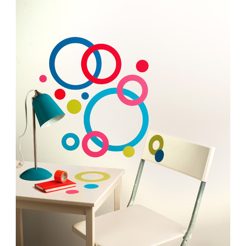 Wallies Peel and Stick Concentric Circles Wall Decal