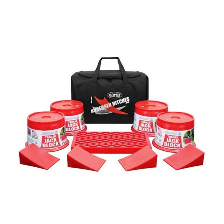"""ANDERSEN Ultimate Trailer Gearâ""""¢ EZ-Block Bag (duffel bag with 9-pc Kit for single axle RV's & Trailers) - NEW! APRIL 2018  (3603)"""