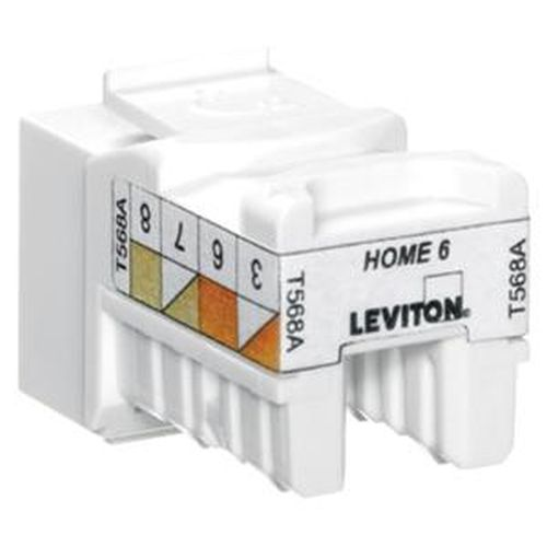 Leviton HAI 61HOM-RL6 Blue Quickport Cat6 Residential Home6 T568A 110 8