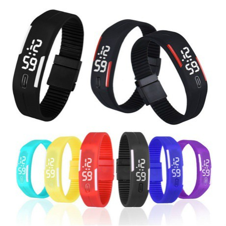 Rubber LED Watch Date Sports Bracelet Digital Wrist Watch Zh3 For Men and Women