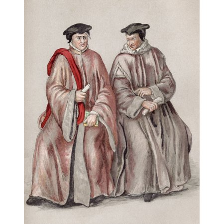 Judges In Their Robes During The Reign Of Elizabeth I From The Book Short History Of The English People By JR Green Published London 1893 - Judge Robe