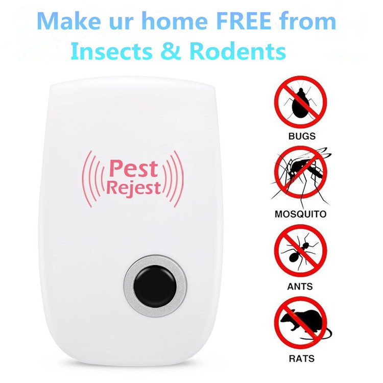 Ultrasonic Pest Repeller, 1 Pack Electronic Plug - in DOUBLE IMPACT Pest Control Ultrasonic for Mosquitoes, Mice, Ants, Roaches, Spiders, Bugs, Flies, Insects, Rodents And More