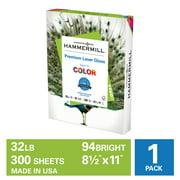 Hammermill Glossy Paper, Premium Laser Gloss 32lb, 8.5 x 11, 32lb, 1 Pack
