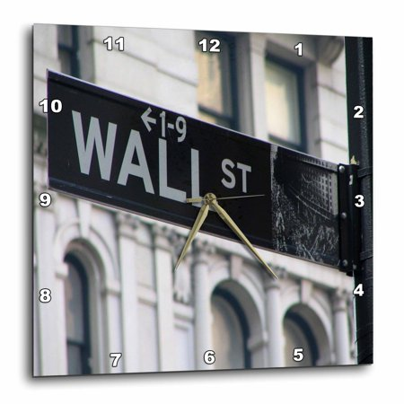 3dRose WALL STREET - Wall Clock, 10 by 10-inch
