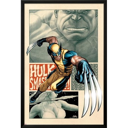 Savage Wolverine #5 Cover: Wolverine Lamina Framed Poster Wall Art  By Frank Cho - 26x38