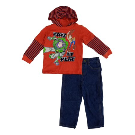 Woody Outfits Toy Story (Disney Pixar Toy Story Infant & Toddler Boys Buzz Woody Hooded Shirt & Jean)