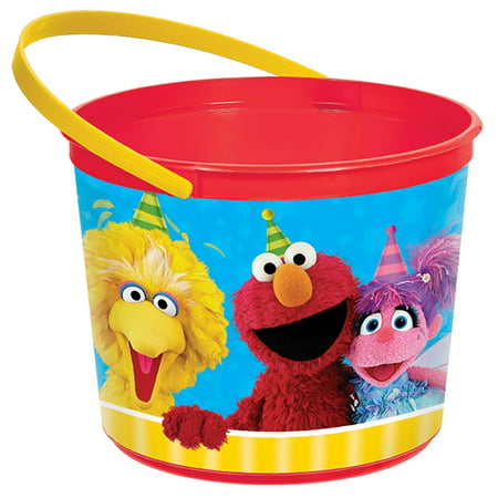 Sesame Street Plastic Favor Container (Each)](Sesame Street Birthday Party Favors)