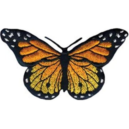 451009  Iron-On Appliques -Monarch Butterfly 3 in. x 1.75 in. 1-Pkg