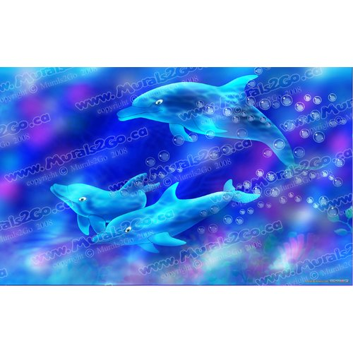 Wallhogs Dolphins Poster Wall Mural