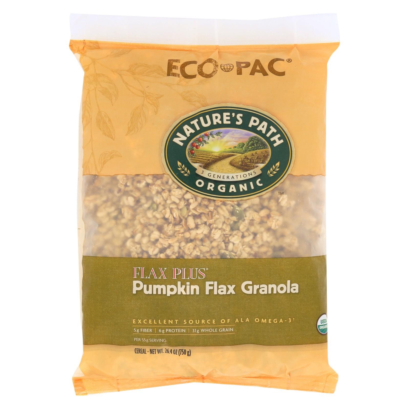 Nature's Path Organic Flax Plus, Pumpkin Granola Cereal, 26.4 Oz