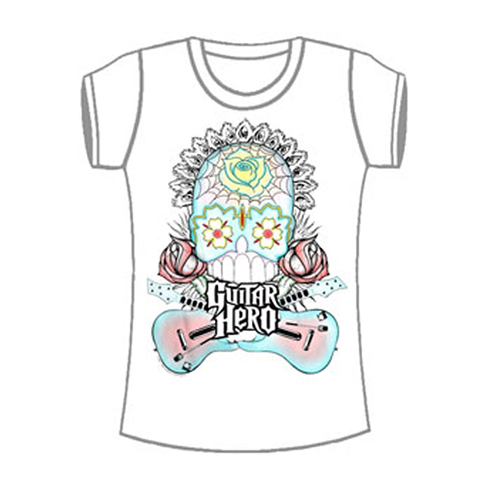 Guitar Hero  Girls Jr Tissue Tee White