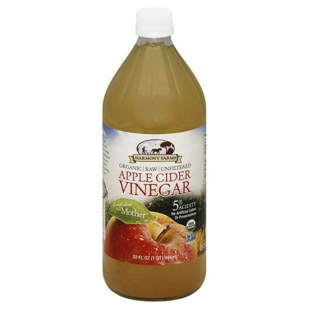 harmony farms organic apple cider vinegar raw unfiltered 32 fl oz. Black Bedroom Furniture Sets. Home Design Ideas